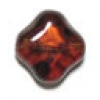 Glass Bead Diamond Shape 12mm Smoke Topaz - Strung